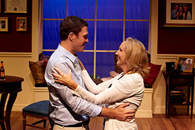 Justin Doran and Kim Tobin-Lehl in  Stark Naked Theatre's production of The God Game. Photo by Gabriella Nissen.