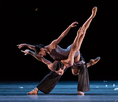 Karina Gonzalez and Connor Walsh in Edvaard Liang's Murmuration. Photo by Amitava Sarkar.