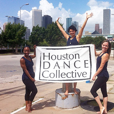 Houston Dance Collective founders Courtney Jones, Catalina Alexandra and Jodee Engle.  Photo courtesy of HDC.