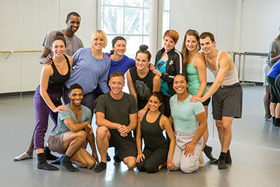 MET Dance in the studio with Larry Keigwin. Photo by Ben Doyle.
