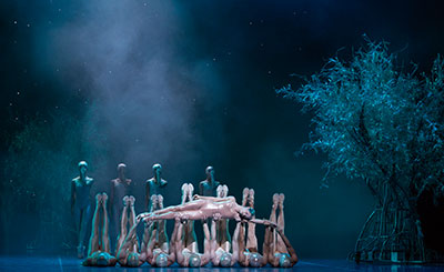Karina Gonzalez and artists of Houston Ballet  in John Neumeier's A Midsummer Night's Dream. Photo by Amitava Sarkar.