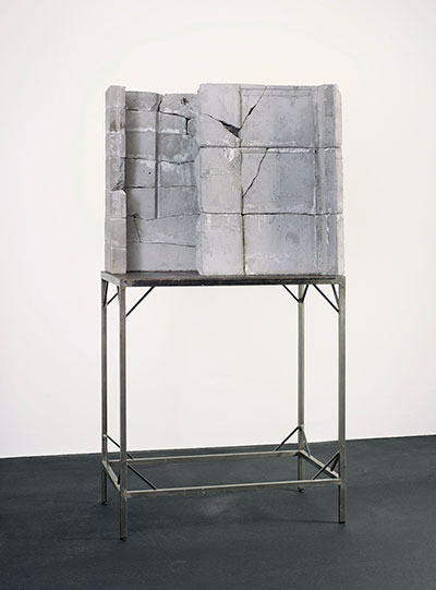 Door (Tür), 1988 Isa Genzken Concrete and steel Overall: 93 x 28 x 46 3/4 in. (2 m 36.221 cm x 71.12 cm x 118.745 cm) The Rachofsky Collection and the Dallas Museum of Art through the DMA/amfAR Benefit Auction Fund © Isa Genzken