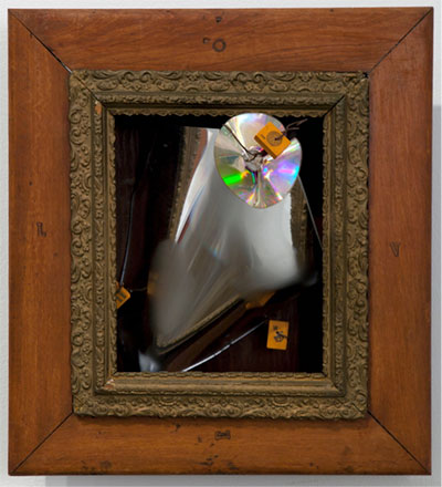 George Herms, Seitz, 2011. Assemblage. Approx. 20 ½ x 19 x 10 ½ in.  Collection of the artist. Photograph courtesy of the artist. Photo: Joshua White. Art work © 2014 George Herms.