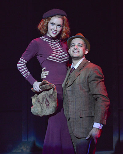 John Campione as Clyde and Kayla Carlyle as Bonnie in Watertowwer Theatre's production of Bonnie & Clyde. Photo by Karen Almond.