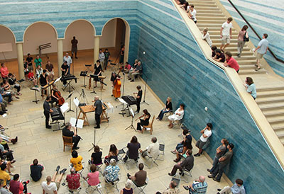 Travis Weller's Symmetrographia at Blanton Museum of Art as part of Sound Space :Sound Construction. Photo by Mary Myers.