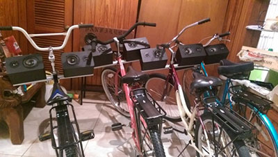 The Sonic Bikes of 2nd Ward - A Bicycle Opera Photo courtesy of Nameless Sound.