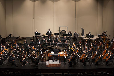 The UT Symphony Orchestra, under the baton of Gerhardt Zimmermann, will accompany Butler Opera Center singers for an excerpt of the first act of La Bohème, and a piece from Candide.