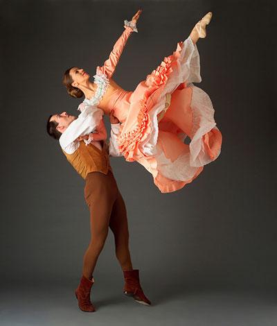 Martha Graham Dance Company's Virginie Mécène (Bride) and Gary Galbraith (Husbandman) in Appalachinan Spring. Photo by John Deane.