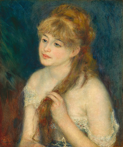 Auguste Renoir, Young Woman Braiding Her Hair, 1876. Oil on canvas. National Gallery of Art Washington, DC, Ailsa Mellon Bruce Collection.