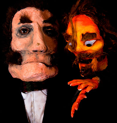 Trouble Puppet Theater Company in The Strange Case of Edward Hyde and Dr. Jekyll. Photo by Chris Owen.
