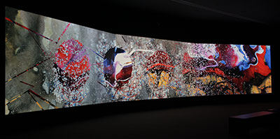 Shahzia Sikander, Parallax, 2013, 3-Channel HD Animation, Duration of 15min. 30sec., Copyright the artist, courtesy of the Linda Pace Foundation, photographer: Mark Menjivar.