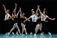 Artists of Ballet Austin in George Balanchine's Agon. Photo by Tony Spielberg.