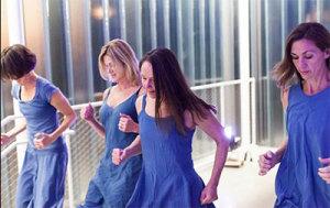Leslie Scates, Karen Stokes, Teresa Chapman and  Becky Valls in 021 Urban Songline at Blaffer Art Museum. Photo by Lynn Lane.