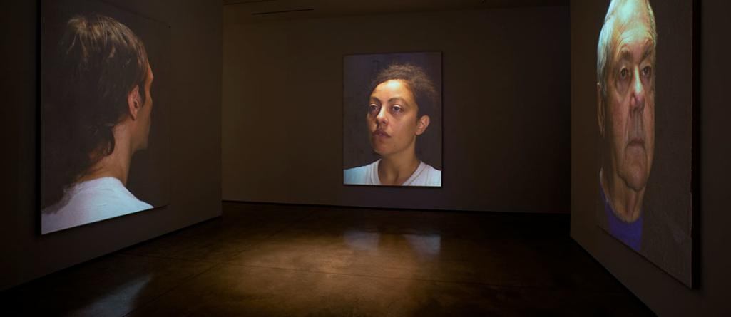 Donald Moffett: head. at Lora Reynolds Gallery