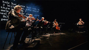 Laurie Anderson and Kronos Quartet in Landfall. Photo courtesy of the artist.