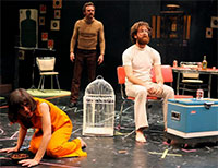 Lana Lesley, Jason Liebrecht, Thomas Graves in The Method Gun, directed by Shawn Sides, 2010, Humana Festival of New American Plays, Actors Theatre, Louisville, Kentucky. Photo by Alan Simons.