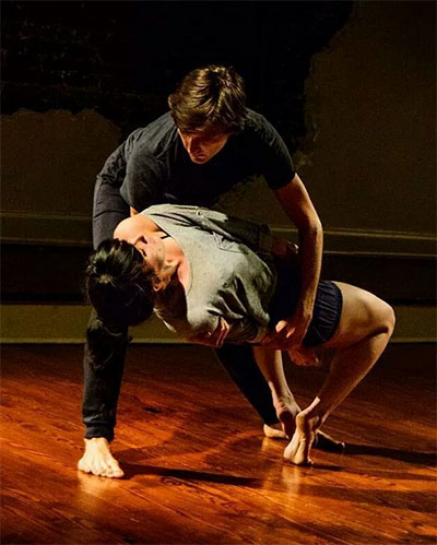 Alisa Mittin and Erik Thurmond in over.again Photo by Michael Boatwright.