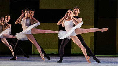 Artists of Houston Ballet in Stanton Welch's Velocity Photo by Amitava Sarkar.