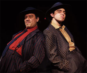 Rodney Garza as El Pachuco and Chris Ramirez as Henry Reyna. Photo Credit: Adolfo Cantú-Villarreal, TZOM Films