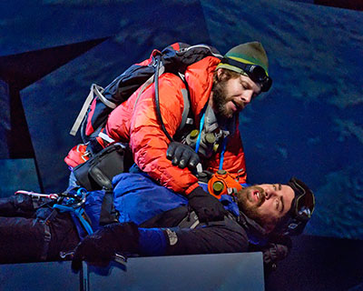Andrew Bidlack and Craig Verm in Dallas Opera's production of Everest. Photo by Karen Almond.