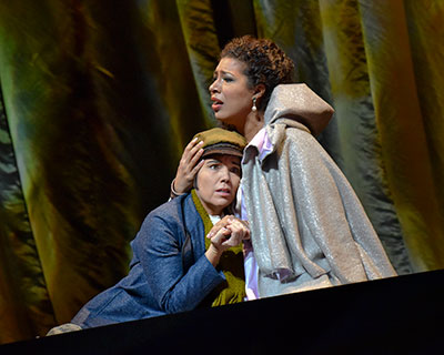 Mary Elizabeth Williams and Jennifer Chung in Dallas Opera's production of La Wally. Photo by Karen Almond.