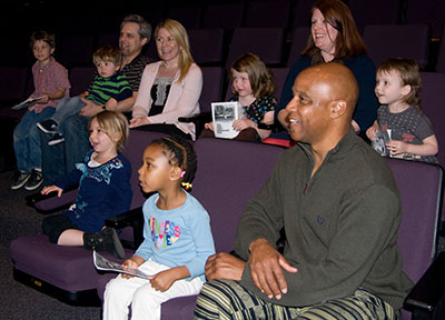 DCT's audience enjoying PIGS. Photo by Linda Blase.