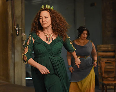 Sally Nystuen Vahle, Christie Vela  in The Dallas Theater Center's production of Medea. Photo by Karen Almond.