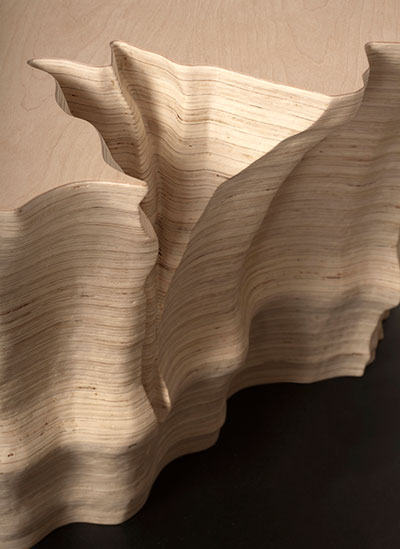 Adrien Segal, Trends in Water Use, 2011. Plywood, steel. Photo by Daniel Lorenze