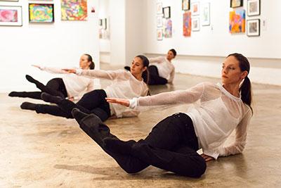 Catalina Alexandra, Jacquelyne Boe, Danielle Garza and Jamie Williams in Laura Gutierrez's BARE at Nicole Longnecker Gallery. Photo by Lynn Lane.