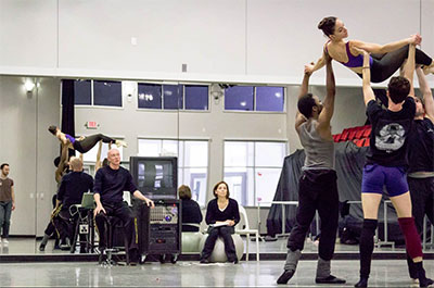 Ballet Austin Artistic Director Stephen Mills and Assistant Artistic Director Michelle Martin rehearsing Belle Redux / A Tale of Beauty and the Beast. Photo courtesy of Ballet Austin.