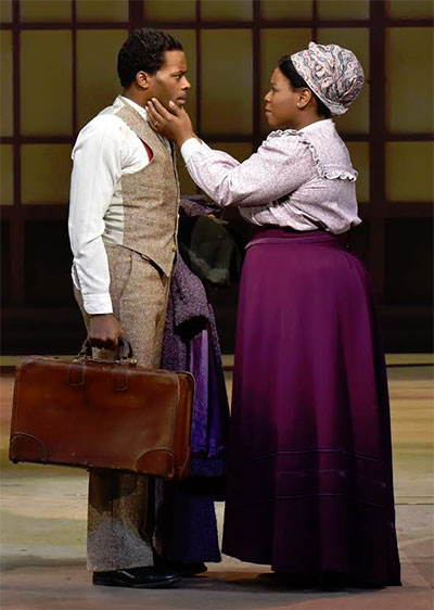 Cedric Neal and Tiffany Mann in DTC's Stagger Lee. Photo by Karen Almond.