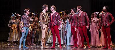 Artists of Houston Ballet in Stanton Welch's Romeo and Juliet. Photo by Amitava Sarkar.