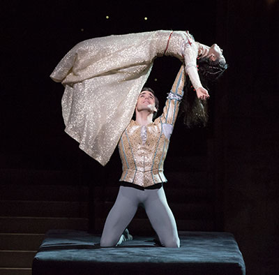 Connor Walsh and Karina Gonzalez in Stanton Welch's Romeo and Juliet. Photo by Amitava Sarkar.