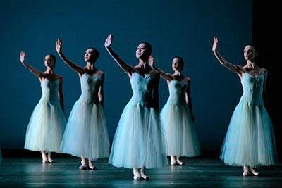 Artists of Houston Ballet in Balanchine's Serenade. Photo by Amitava Sarkar.