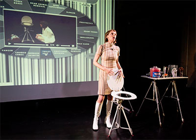 Michelle Ellsworth in Preparation for the Obsolescence of the Y Chromosome. Photo by Ian Douglas courtesy of American Realness