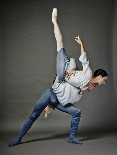 Leticia Oliveira and Carl Coomer in Texas Ballet Theater production of Ben Stevenson's Five Poems. Photo by Steven Visneau.