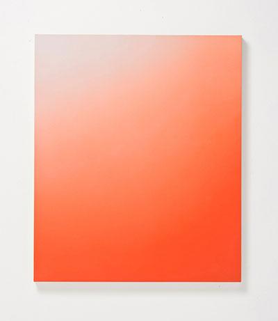 "Kristen Cliburn, Invisible Mountain, 2013, 32"" x 38"" acrylic on canvas, Gallery Sonja Roesch."