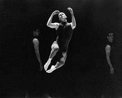 Ballet Austin artistic director Stephen Mills dancing his work, Ashes, at Ballet Austin in 1998. Photo by Lucia Uhl.