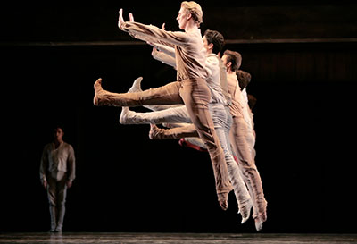 Artists of Houston Ballet in  Jiri Kylian's Svadebka. Photo by Amitava Sarkar.