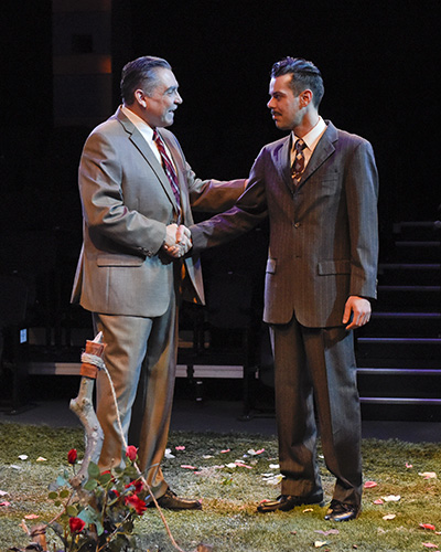 Terry Martin and Joey Folsom All My Sons. Photo by Karen Almond.