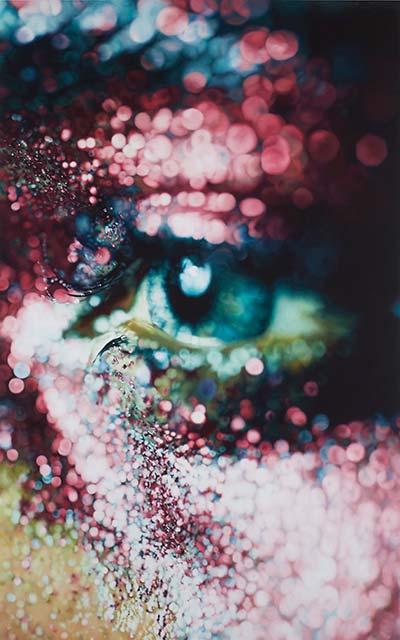 Marilyn Minter, Glazed, 2006. Enamel on metal. 96 x 60 inches. Collection of Jeanne Greenberg Rohatyn and Nicolas Rohatyn, New York