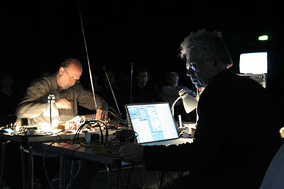 Kjell Bjorgeengen  & Keith Rowe. Photo courtesy of the artists.