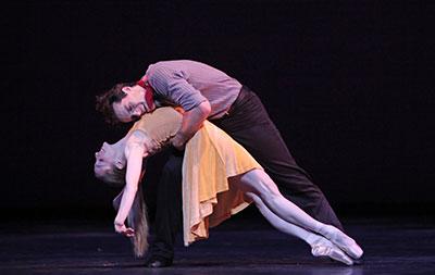 Simon Ball and Sara Webb in Christopher Wheeldon's Carousel (A Dance) Photo by Amitava Sarkar.