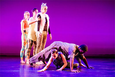 "Dancers: Alyson Dolan, Jessica Boone, Mariclaire Gamble, Carissa Topham and Jack Anthony Dunlap II. From ""There, the Magnificent."""