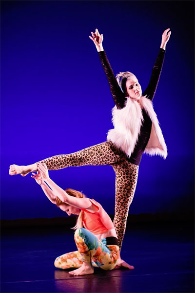 "Dancers: Alyson Dolan and Mariclaire Gamble.  From ""There, the Magnificent."""