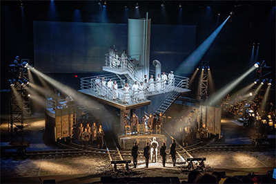 A scene from The Passenger, co-presented by Lincoln Center Festival and Park Avenue Armory; July 9, 2014 at the Park Avenue Armory; Houston Grand Opera, Orchestra, and Chorus.  Photo by Stephanie Berger.
