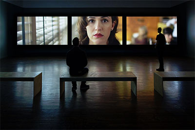Teresa Hubbard / Alexander Birchler  Installation View,  Giant  2014  High Definition Video with Sound  Duration: 30 min.  Synchronized 3-Channel Projection  Photo Credit: Frederik Nilsen  Courtesy: the artists, Tanya Bonakdar Gallery, New  York and Lora Reynolds Gallery, Austin