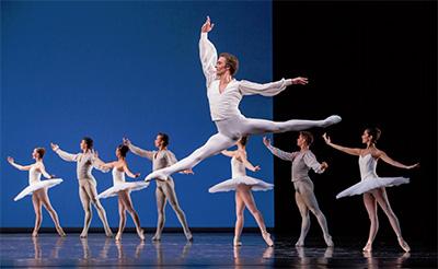 Jared Matthews and Artists of Houston Ballet in Harald Lander's Etudes. Photo by Amitava Sarkar