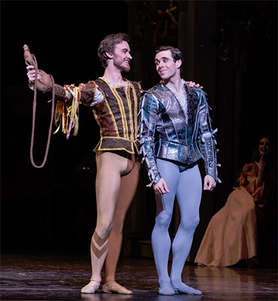 Jared Matthews and Connor Walsh in Stanton Welch's Romeo and Juliet. Photo by Amitava Sarkar.