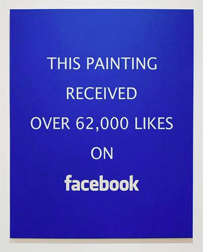 Alejandro Diaz, Facebook Likes, 2015. Acrylic painting on canvas. 60x48 inches.